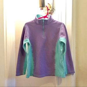 LL Bean Girls Fleece Pullover